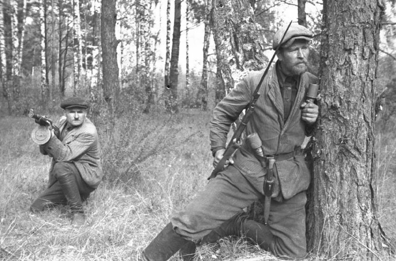 Soviet partisans in Belarus, 1943 (Russian state archive)