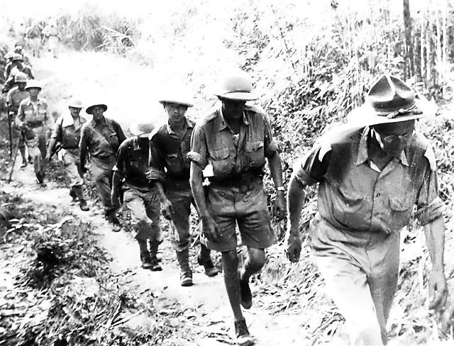 Gen. Joseph Stilwell marching out of Burma, May 1942 (public domain via WW2 Database)