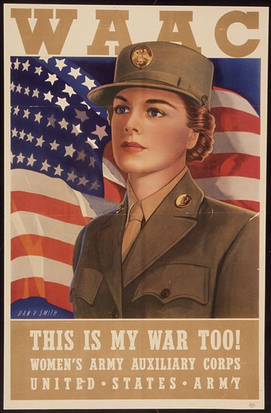 US poster for the Women's Army Auxiliary Corps, WWII