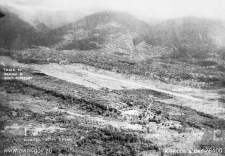 Kokoda Village and Airfield, 14 July 1942 (Australian War Memorial)