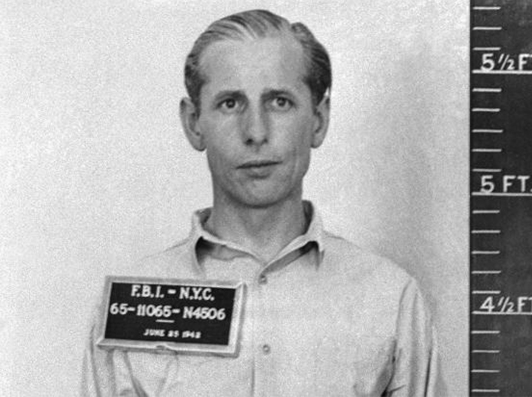 German saboteur George Dasch, who turned himself and his fellow saboteurs in to the FBI, 1942 (US Army photo)