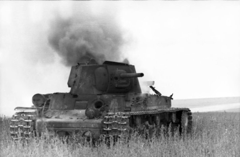 Destroyed Soviet tank near Voronezh, June 1942 (German Federal Archive: Bild 101I-216-0412-07)