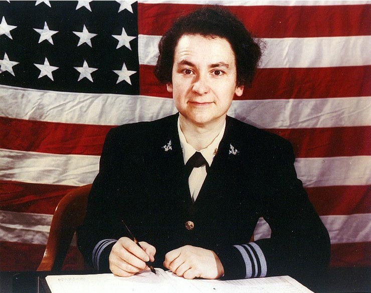 Lt. Cdr. Mildred McAfee, USNR, Director of the WAVES, WWII (US Navy photo)