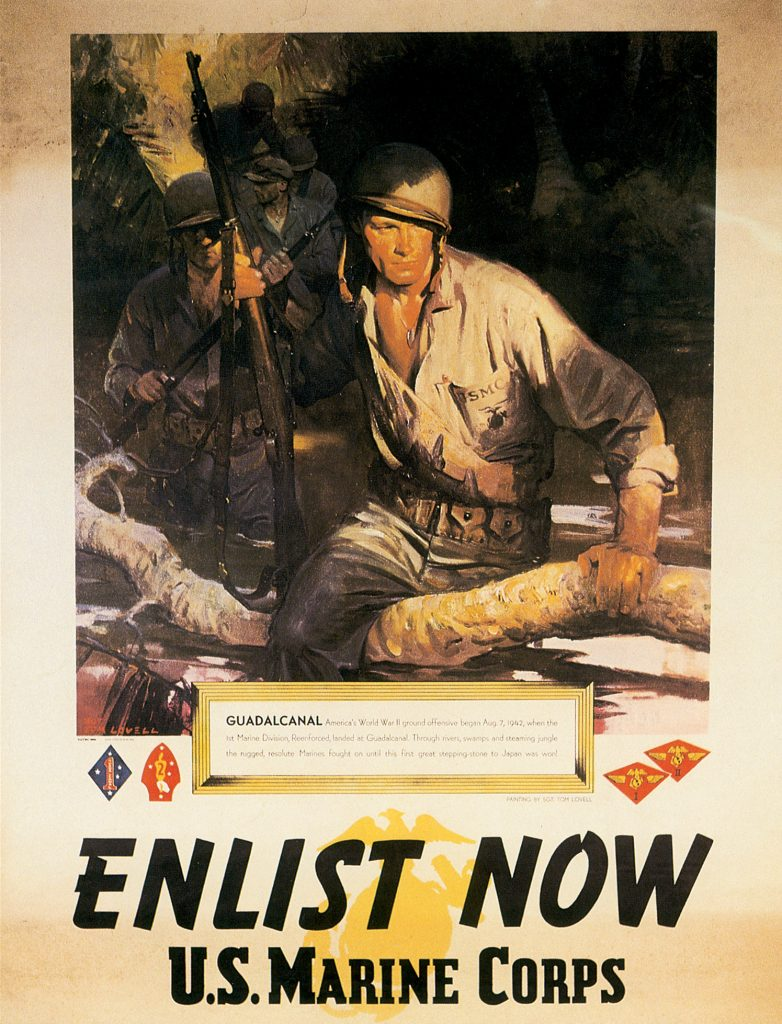US Marine Corps recruiting poster, 1945