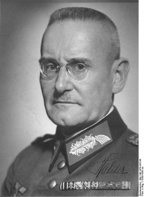 Gen. Franz Halder, 1938 (German Federal Archive: Bild 146-1970-052-08)