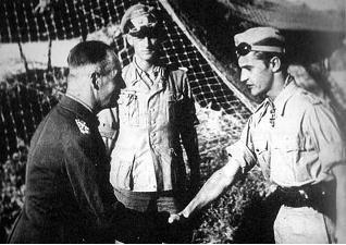 Erwin Rommel and Hans-Joachim Marseille, Libya, 16 Sep 1942 (public domain via WW2 Database)