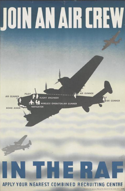 Recruiting poster for Royal Air Force Bomber Command, WWII