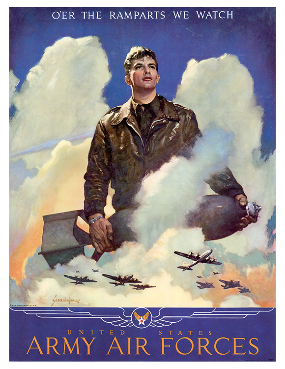 Recruiting poster for the US Army Air Forces, WWII
