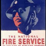 British poster recruiting women for Fire Service, WWII