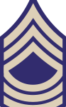 US Army rank insignia for master sergeant, WWII