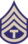US Army rank insignia for technician third class, WWII
