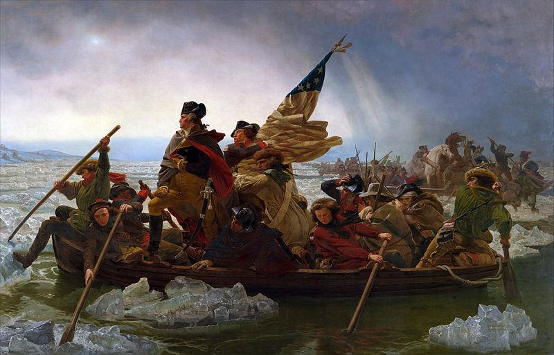 Washington Crossing the Delaware by Emanuel Leutze (public domain)