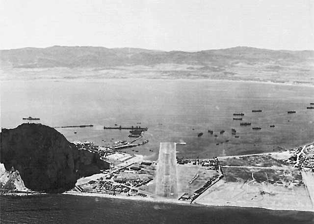Gibraltar, looking toward the Bay of Algeçiras (US Army Center of Military History)