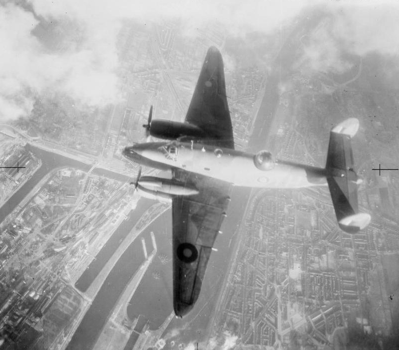 Lockheed Ventura of No. 21 Squadron RAF over IJmuiden, the Netherlands, 13 February 1943 (Imperial War Museum)