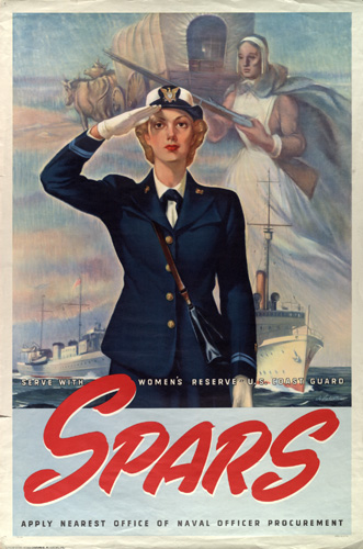 Recruiting poster for the SPARs, the US Coast Guard Women's Reserve, WWII