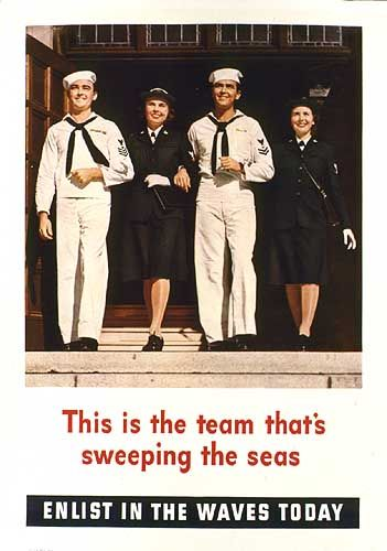 WAVES recruitment poster, US, WWII