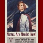 Recruitment poster for US Army Nurse Corps, WWII