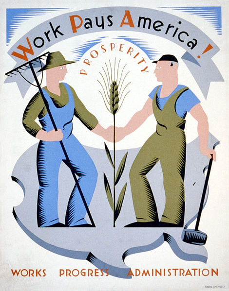 Poster for the Works Progress Administration (Library of Congress)