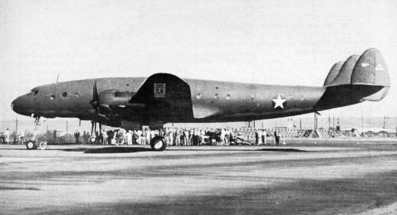 Prototype C-69 Constellation at Burbank, CA, 9 Jan 1943 (US Navy photo)