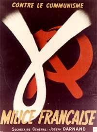 Recruitment poster for the French Milice, WWII