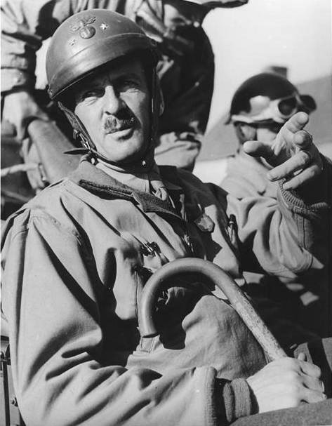 French Gen. Philippe Leclerc in command in France, 1944 (US Office of War Information photo)