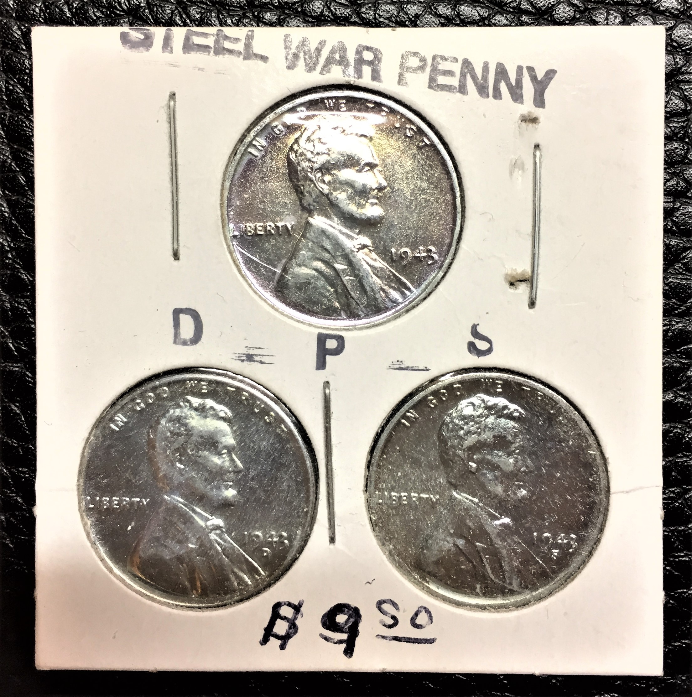 Steel pennies, 1943 (Sarah Sundin collection)