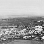 El Bathan, Tunisia, the Medjerda river, and Tebourba, the cluster of white buildings in the left background (US Army Center of Military History)