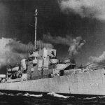 Evarts-class destroyer escort USS Brennan, 1943 (US Navy photo)