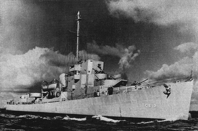 Evarts-class destroyer escort USS Brennan, 1943 (US Navy photo)