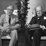 Franklin Roosevelt and Winston Churchill in Casablanca, French Morocco during the Casablanca Conference, 24 Jan 1943 (US Army Signal Corps photo)