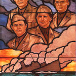 Four Chaplains stained-glass window at the US Pentagon (US government photo)