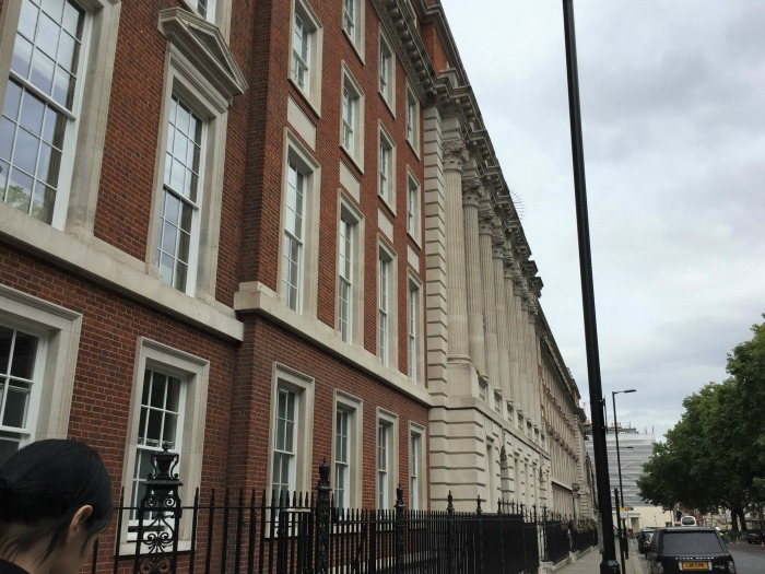 18 Grosvenor Square, London (19 Grosvenor Square was obscured by scaffolding), September 2017 (Photo: Sarah Sundin)