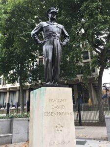 Statue of Gen. Dwight D. Eisenhower, Grosvenor Square, London, September 2017 (Photo: Sarah Sundin)