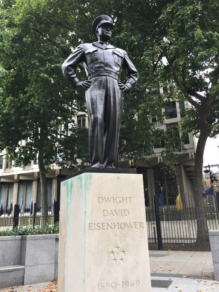 Statue of Gen. Dwight D. Eisenhower, Grosvenor Square, London, September 2017 (Photo: Sarah Sundin)