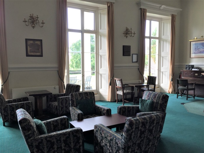 "The library at Southwick House, now called the ""Eisenhower Room,"" where Gen. Eisenhower made his decision to launch D-day on 6 June 1944. Southwick House, England, September 2017 (Photo: Sarah Sundin)"