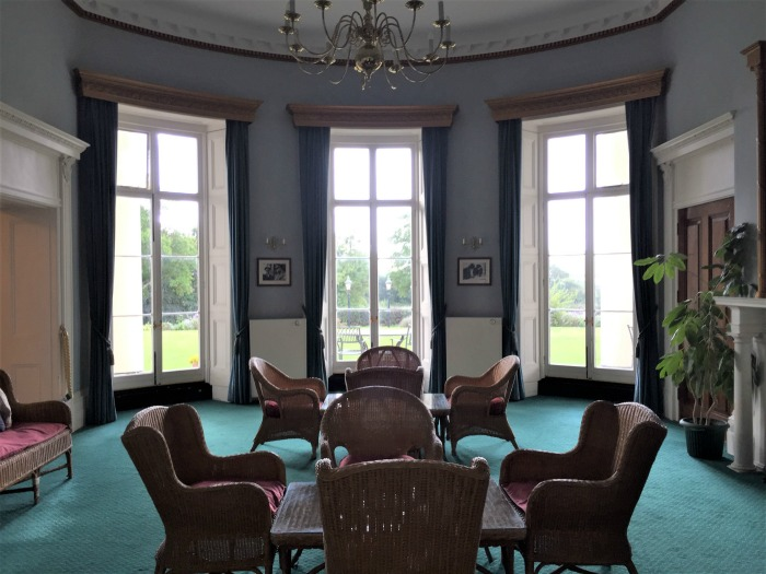 "The sitting room at Southwick House, now called the ""Ramsay Room,"" which lies between the library and the map room. Southwick House, England, September 2017 (Photo: Sarah Sundin)"