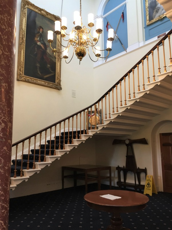 The main stairway inside Southwick House, England, September 2017 (Photo: Sarah Sundin)