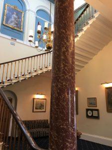 The main stairway inside Southwick House, England, September 2017 (Photo: Sarah Sundin)