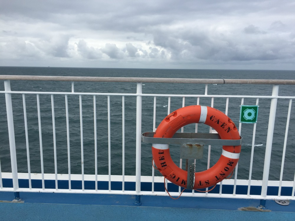 On board ferry Mont St. Michel in the English Channel, September 2017 (Photo: Sarah Sundin)