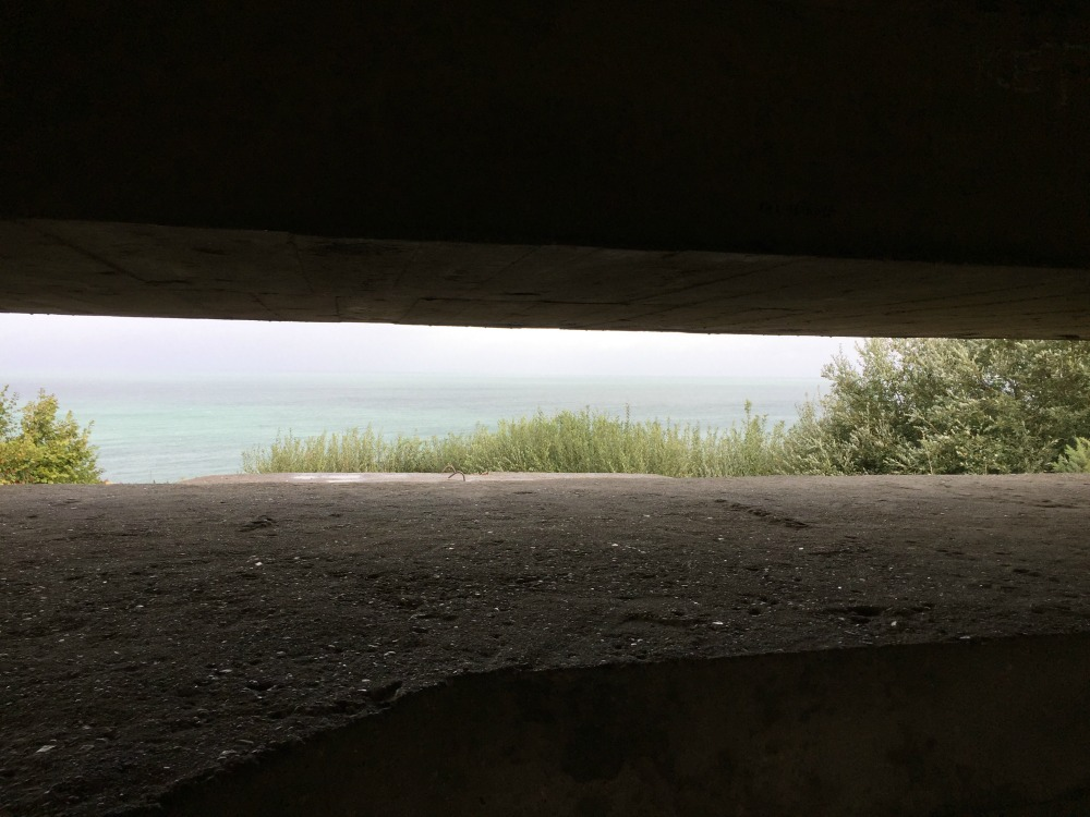 "A view made famous in the movie ""The Longest Day,"" inside Longues-sur-Mer gun battery. Longues-sur-Mer, France, September 2017 (Photo: Sarah Sundin)"
