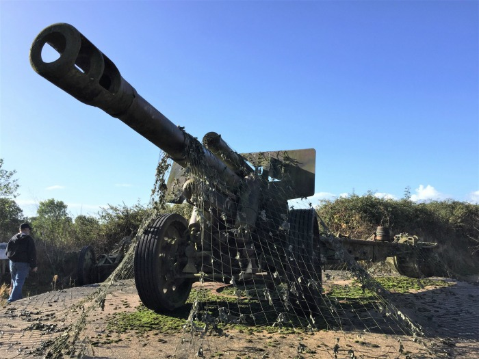 Gun at Maisy Battery, Maisy-Grandcamps, France, September 2017 (Photo: Sarah Sundin)