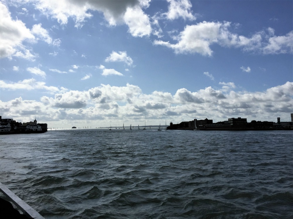 Mouth of Portsmouth Harbor, England, September 2017 (Photo: Sarah Sundin)