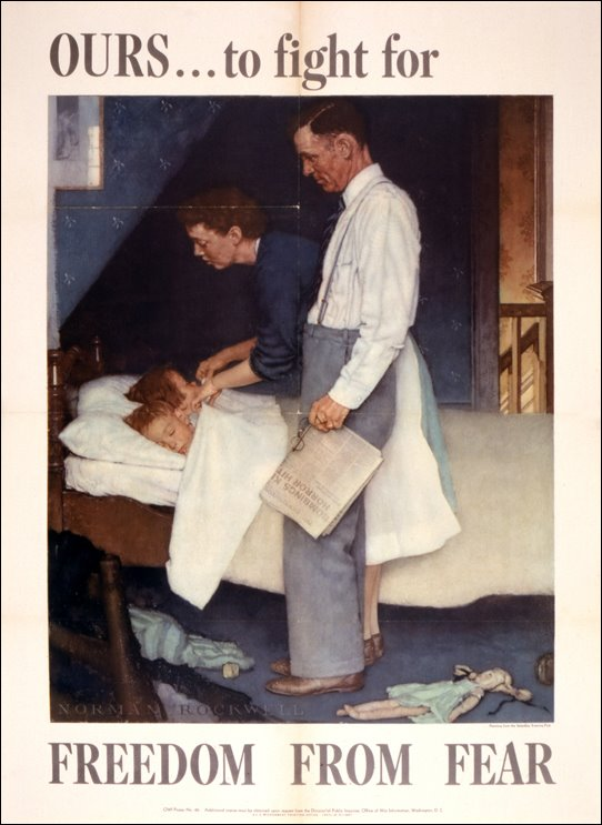 """Norman Rockwell's """"Freedom from Fear,"""" 1943"""