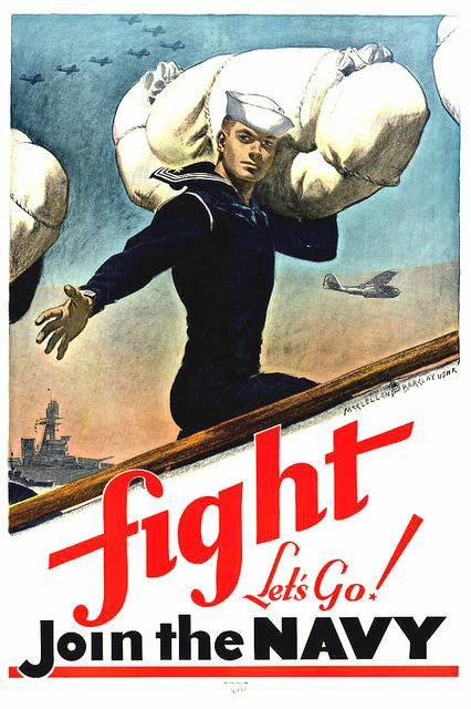 US Navy recruiting poster, 1941