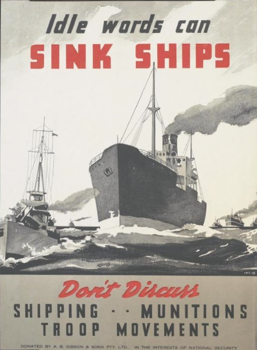 British poster, World War II