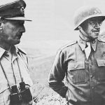 Maj. Gen. Omar Bradley (right), commander US II Corps, and Lt. Gen. Kenneth Anderson, commander of the British First Army, April 1943 (US Army Center of Military History)