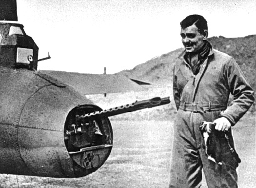 Capt. Clark Gable with a B-17 Flying Fortress in England, 1943 (US Army photo)