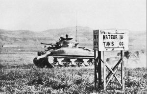 US 1st Infantry Division tank speeding to Mateur, Tunisia, 3 May 1943 (US Army Center of Military History)