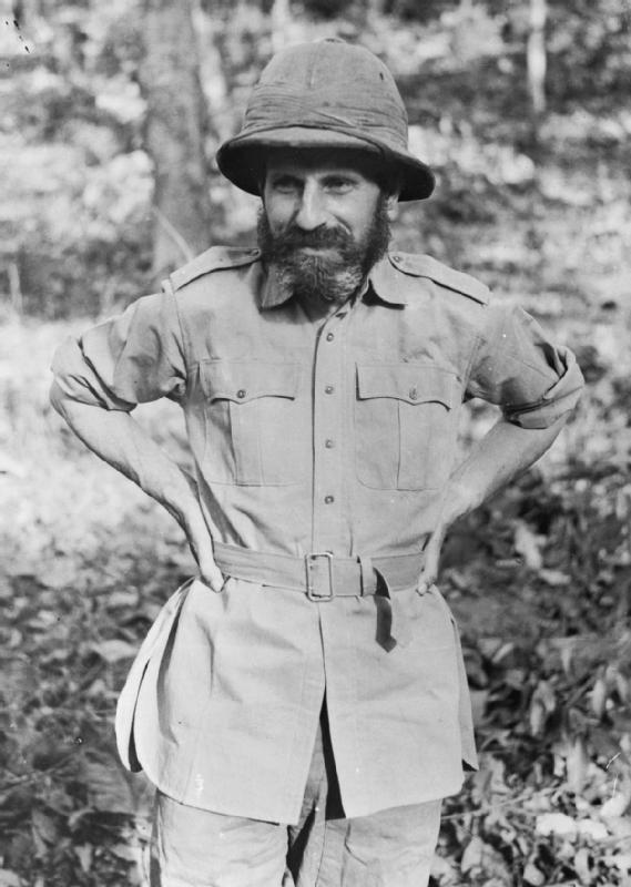 Brig. Orde Wingate in India after returning from operations in Japanese-occupied Burma with his Chindits unit in 1943 (Imperial War Museum)