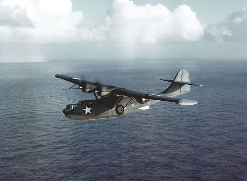 US Navy PBY Catalina on patrol, 1942-43 (US Navy photo)